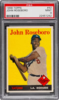 Baseball Cards:Singles (1950-1959), 1958 Topps John Roseboro #42 PSA Mint 9 - Pop Three, NoneHigher!...