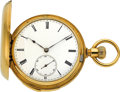 Timepieces:Pocket (pre 1900) , Patek Philippe Very Fine Gold Minute Repeater For I. Marenzeller Vienne, circa 1871. ...