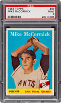 Baseball Cards:Singles (1950-1959), 1958 Topps Mike McCormick #37 PSA Mint 9 - Pop One, None Higher!...