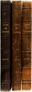 Books:Periodicals, [Bound Periodicals]. Three Bound Volumes of Magasin des Demoiselles. Vols. 5, 7 and 8. 1849, 1850 - 1851 & 1851 - ... (Total: 3 Items)