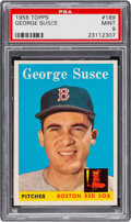 Baseball Cards:Singles (1950-1959), 1958 Topps George Susce #189 PSA Mint 9....