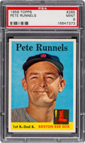 Baseball Cards:Singles (1950-1959), 1958 Topps Pete Runnels #265 PSA Mint 9....