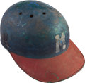 Baseball Collectibles:Hats, 1960's Milwaukee Braves Game Worn Batting Helmet. ...