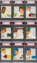 Baseball Cards:Sets, 1955 Red Man High Grade PSA Collection (9 Different) - All National League Players. ...