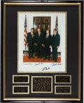Miscellaneous Collectibles:General, Presidents Ronald Reagan, Gerald Ford, Jimmy Carter and Richard Nixon Signed Photograph Display....