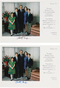 Miscellaneous Collectibles:General, 1993 Richard Nixon Signed Christmas Cards Lot of 2. ...