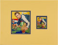 Football Cards:Singles (Pre-1950), 1935 National Chicle Tom Jones #17 Original Artwork and Card. ...