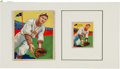 "Baseball Cards:Singles (1930-1939), 1934-36 R327 National Chicle ""Diamond Stars"" Julius Solters #85Original Art and Card. ..."