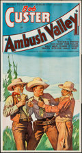 """Movie Posters:Western, Ambush Valley (Reliable, 1936). Three Sheet (41"""" X 79""""). Western.. ..."""