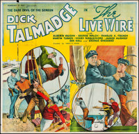 """The Live Wire (Reliable, 1935). Six Sheet (79.5"""" X 77""""). Action"""