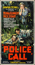 """Movie Posters:Crime, Police Call (Showmens Pictures, 1933). Three Sheet (41"""" X 76.75"""").Crime.. ..."""