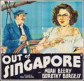 """Movie Posters:Crime, Out of Singapore (William Steiner, 1932). Six Sheet (80"""" X 82"""").Crime.. ..."""