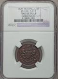 Malay Peninsula:Penang, Malay Peninsula: Penang. British Adminstration 1/2 Cent 1828 FineDetails (Corrosion) NGC,...