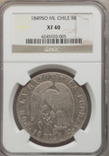 Chile, Chile: Republic 8 Reales 1849 So-ML XF40 NGC,...