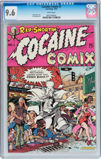 Cocaine Comix #1 (Last Gasp, 1975) CGC NM+ 9.6 White pages