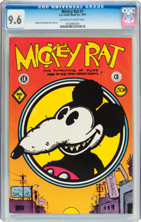 Mickey Rat #1 (Los Angeles Comic Book Co., 1972) CGC NM+ 9.6 Off-white to white pages