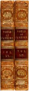 Books:Periodicals, [Bound Periodicals, Fashion]. The World of Fashion andContinental Feuilletons, a Monthly Publication, Vols. XIV&... (Total: 2 Items)