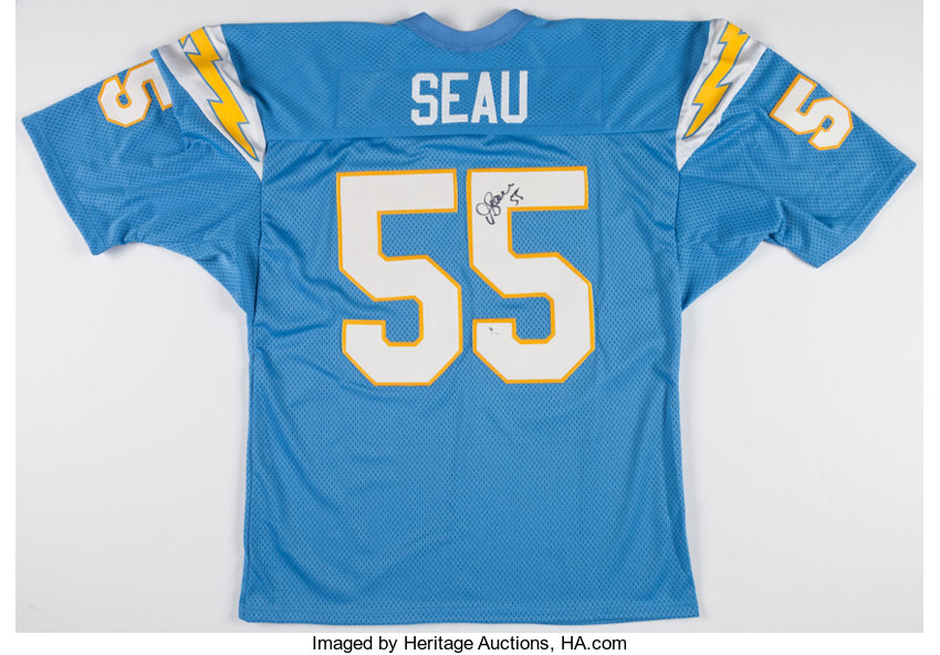 finest selection e1b16 de9df Junior Seau Signed San Diego Chargers Jersey.... Football ...