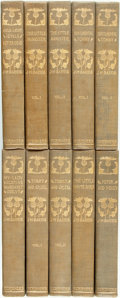 Books:Literature Pre-1900, J.M. Barrie. The Novels, Tales and Sketches of J.M. Barrie.New York: Charles Scribner's Sons, 1903 - 1922. . ... (Total: 10Items)