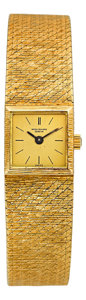 Timepieces:Wristwatch, Patek Philippe Ref. 3285 Lady's Gold Bracelet Watch. ...