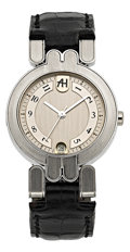 Timepieces:Wristwatch, Harry Winston Mid-Size Platinum Automatic Wristwatch. ...
