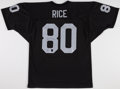 Football Collectibles:Uniforms, Jerry Rice Signed Oakland Raiders Jersey....