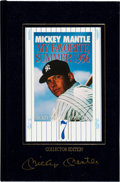 "Baseball Collectibles:Publications, 1991 Mickey Mantle Signed ""My Favorite Summer"" Book. ..."