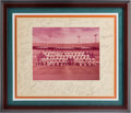 Football Collectibles:Photos, 1972 Miami Dolphins Team Signed Photograph Display....