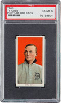 Baseball Cards:Singles (Pre-1930), 1909-11 T206 Piedmont Ty Cobb, Red Portrait PSA EX-MT 6....