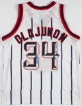 Basketball Collectibles:Uniforms, Hakeem Olajuwon Signed Houston Rockets Jersey....