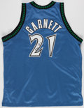 Basketball Collectibles:Uniforms, Kevin Garnett Signed Minnesota Timberwolves Jersey - UDA....