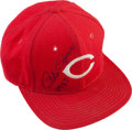 Baseball Collectibles:Uniforms, 1987 Pete Rose Game Worn Cincinnati Reds Cap....