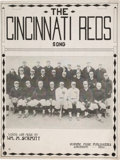 "Baseball Collectibles:Others, 1919 ""The Cincinnati Reds Song"" Sheet Music...."