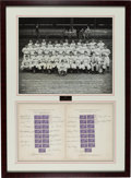 Baseball Collectibles:Others, 1939 Cincinnati Reds Team Signed Baseball Centennial Postage StampDisplay....