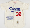 Baseball Collectibles:Uniforms, Sandy Koufax Signed Dodgers Jersey....