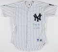 Baseball Collectibles:Uniforms, David Cone Signed New York Yankees Jersey....
