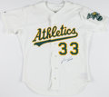 Baseball Collectibles:Uniforms, Jose Canseco Signed Oakland Athletics Jersey....