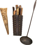 Edged Weapons:Other Edged Weapons, Trio of Excellent Skinner's Tools, 1870s...