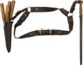 Edged Weapons:Other Edged Weapons, Buffalo Skinner's Kit with Tools. ...