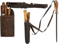 Edged Weapons:Other Edged Weapons, Buffalo Hunter's Pair of Skinning Kits,... (Total: 2 Items)