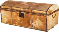 Wooden Cowhide Covered Trunk