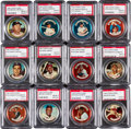 Baseball Cards:Sets, 1964 Topps Coins Complete Set (164) Plus All Three Variations - AllGraded PSA NM-MT 8! ...