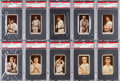 Baseball Cards:Lots, 1912 T207 Recruit, Broadleaf & Anonymous PSA Graded Collection(10). ...