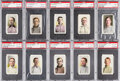 Baseball Cards:Lots, 1910-11 M116 Sporting Life PSA Graded Collection (10). ...