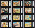 Non-Sport Cards:Sets, 1941 Gum Inc. Uncle Sam & Home Defense Complete Set (120) - #1on the SGC Registry. ...