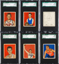 Basketball Cards:Lots, 1948 Bowman Basketball PSA NM-MT+ 8.5 Collection (6). ...