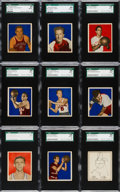 Basketball Cards:Lots, 1948 Bowman Basketball SGC 88 NM/MT 8 Collection (9)....