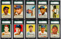 Baseball Cards:Lots, 1952 Topps Baseball SGC 84 NM 7 Graded Collection (10). ...