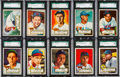 Baseball Cards:Lots, 1952 Topps Baseball SGC 88 NM/MT 8 Collection (10). ...