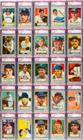 Baseball Cards:Sets, 1952 Topps Baseball Low & Middle Series Complete Run (310) -Mainly EX or Better. ...